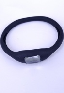 Silicon Elastic Digital Watch Black